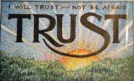 Christian youth game of trust and prayer